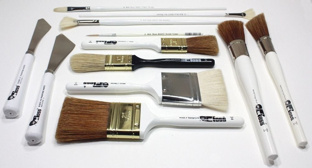 Bob Ross Landscape Brushes