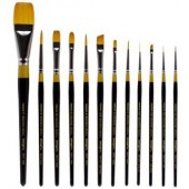 12 Piece Original Gold Premium Brush Set, 9000 Series KingArt