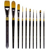 10 Piece Original Gold Premium Brush Set, 9000 Series KingArt