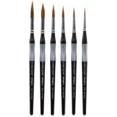 KingArt Precision Premium Brush Set, 6 Piece