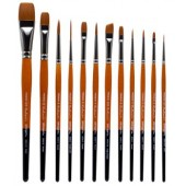 KingArt 12 Piece Radiant All-Purpose Brush Set, 6000 Series Artist Brush Set