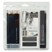 21 Piece Sketching Artist Set, Royal Brush