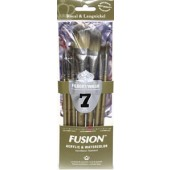 Fusion 7 Piece Filbert/Oval Wash Set