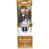 Royal Gold 11 Piece Filbert/Oval Wash Brush Set